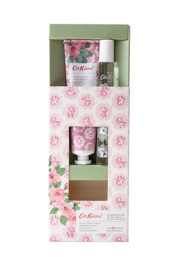 Cath Kidston Freston Cassis & Rose Rollerball Eau de Toilette & Hand Cream Set