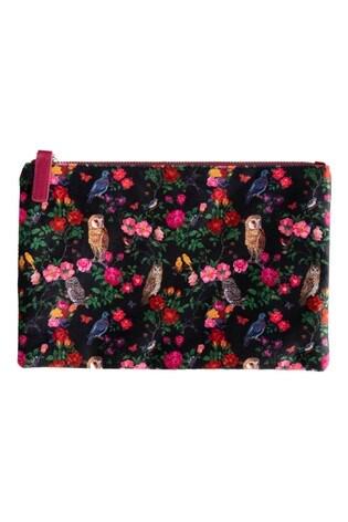 Vintage & Co NATHALIE LETE FOREST FOLK Large Velvet Wash Bag
