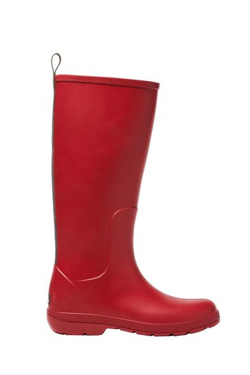 Totes Red Womens Claire Tall Rain Boot