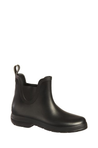 Totes Black Womens Chelsea Ankle Wellie Boot