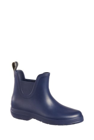 Totes Navy Womens Chelsea Ankle Wellie Boot