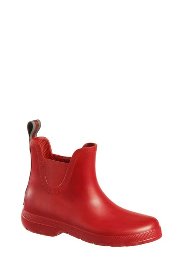 Totes Red Womens Chelsea Ankle Wellie Boot