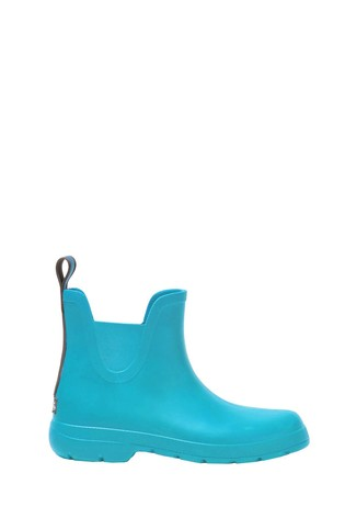 Totes Blue Womens Chelsea Ankle Wellie Boot