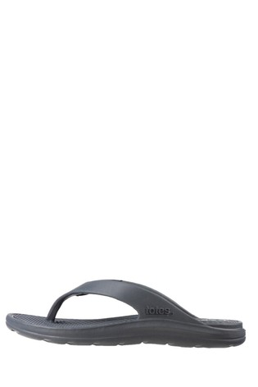 Totes Grey Bounce Men's Toe Post Sandal