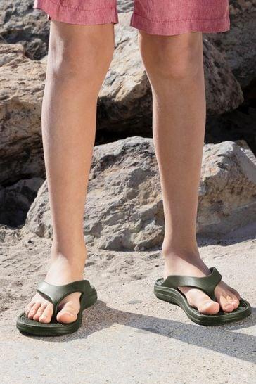 Totes Green Bounce Men's Toe Post Sandal