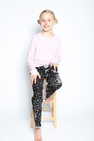 Cyberjammies Pink Hannah Longsleeve Slouch Knit Top And Pant Pyjama Set