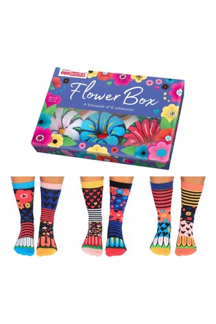 United Odd Socks Multicoloured Flowerbox Socks