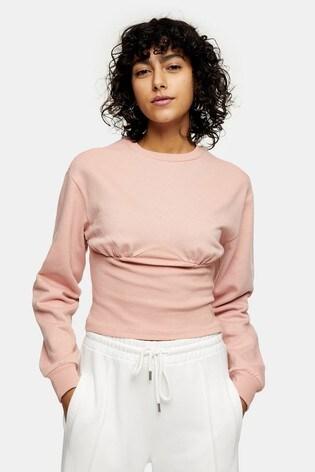 Topshop Corset Detail Sweatshirt