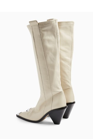 Topshop Tulip Point Knee High Western Boot