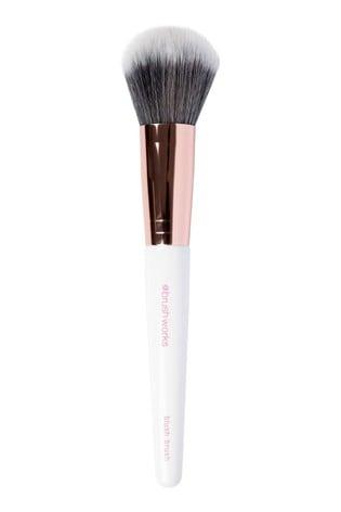 Brush Works Blush Brush - White & Rose Gold