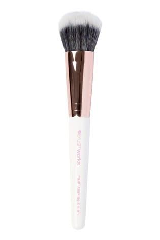 Brush Works Multi-Tasking Brush - White & Rose Gold
