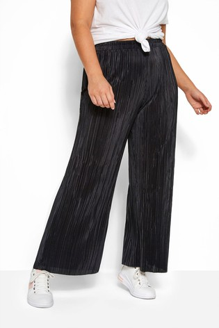 Yours Curve Plisse Wide Leg Trousers