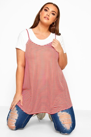 Yours Limited Curve Collection Stripe Cami Swing Top