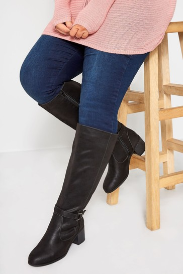 Yours Extra Wide Fit Faux Suede Knee High Boots