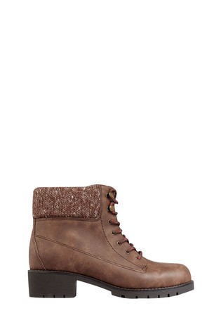 Buy Yours Hiker Lace Up Ankle Boots In