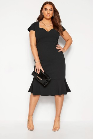 Yours Curve London Fishtail Scuba Dress