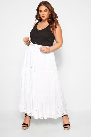 Yours Curve Floral Print Midi Skirt
