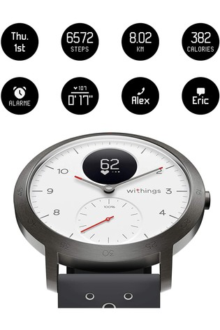 Withings Steel HR Sport - Multi-Sport Hybrid Smartwatch - 40mm