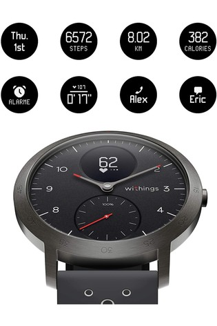 Withings Steel HR Sport - Multi-Sport Hybrid Smartwatch, 40mm