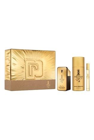 Paco Rabanne 1 Million Eau de Toilette 50ml, Deodorant 150ml and Travel Spray 10ml Gift Set