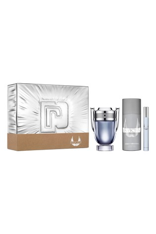 Paco Rabanne Invictus Eau de Toilette 100ml, Deodorant 150ml, Travel Spray 10ml Gift Set