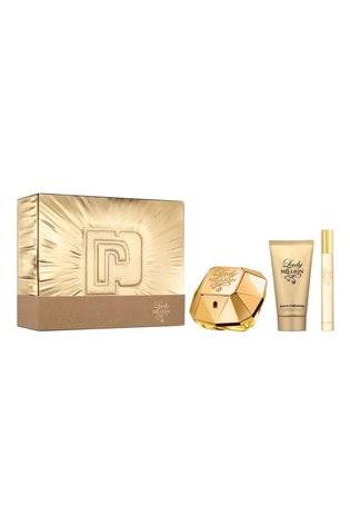 Paco Rabanne Lady Million Eau de Parfum 50ml, Body Lotion 75ml, Travel Spray 10ml Gift Set