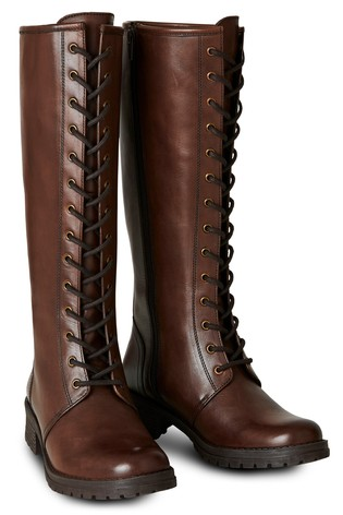 Joe Browns Class Act Leather Lace Up Boots