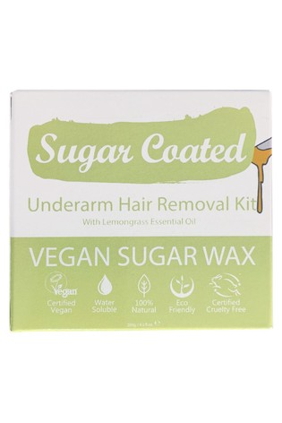 Sugar Coated Underarm Hair Removal Kit (200g Wax, x3 Applicators and x15 Reusable Strips)