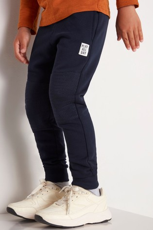 Lindex Navy Kids Textured Knee Joggers