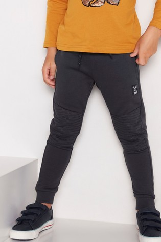 Lindex Grey Kids Textured Knee Joggers