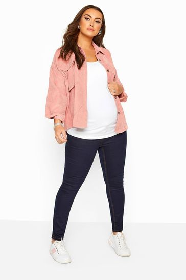 Bump It Up Blue Bump It Up Maternity Skinny Jeans With Comfort Panel