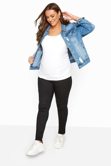 Bump It Up Black Bump It Up Maternity Skinny Jeans With Comfort Panel