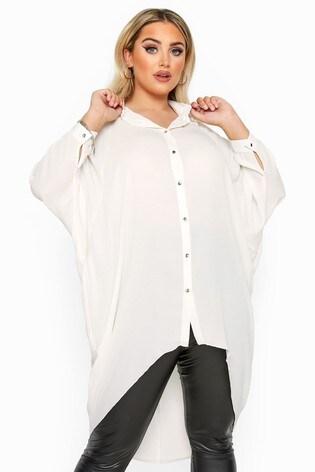 Yours Curve London Oversized Dipped Hem Shirt