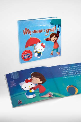 Personalised Soft Back Hello Kitty Book by Story Tailors