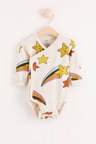 Lindex Shooting Star Baby Wrap-Over Bodysuit