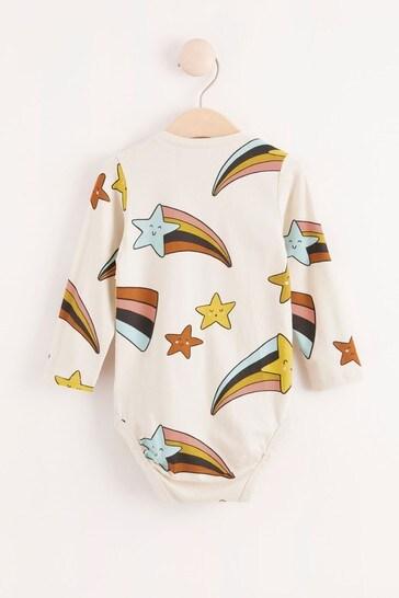 Lindex Shooting Star Baby Long Sleeved Bodysuit