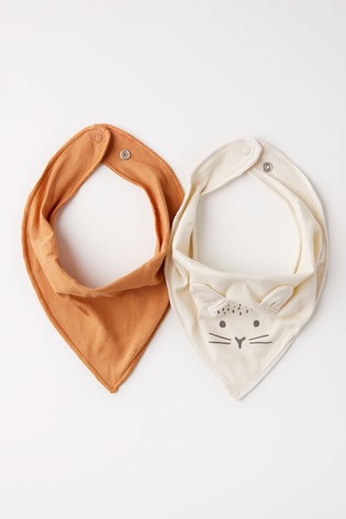 Lindex Cream and Rust Baby 2 Pack Scarves