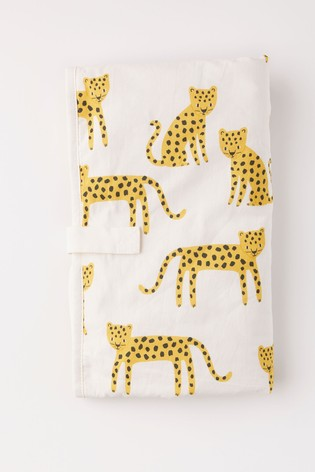 Lindex White Cheetah Baby Home Character Print Baby Changing Mat