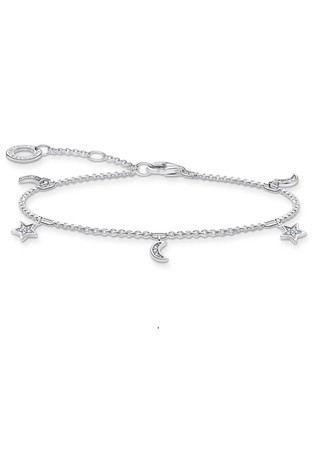 Thomas Sabo Silver Stars And Moons Bracelet