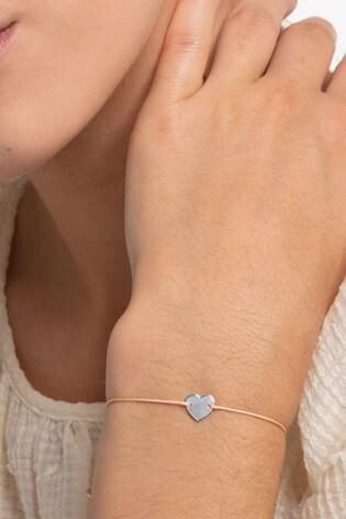 Thomas Sabo Pink Fabric Heart Bracelet