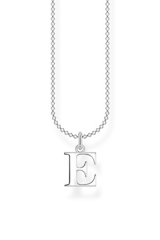 Thomas Sabo Silver Letter Pendant And Chain