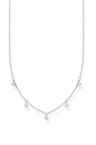 Thomas Sabo Silver Stars And Moon Necklace