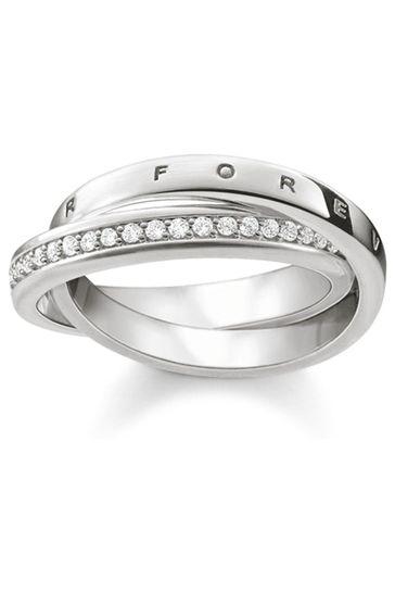 Thomas Sabo Silver Together Forever Interlocking Ring