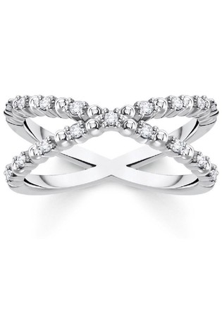 Thomas Sabo Silver Infinity Ring With Stones
