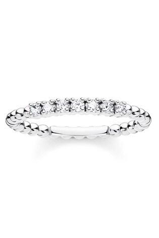 Thomas Sabo Silver Band Ring With Stones