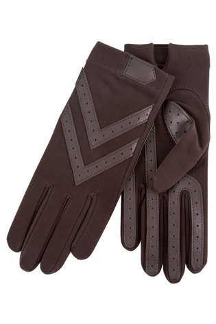 Totes Green Original Stretch Gloves With Brushed Lining & Smartouch