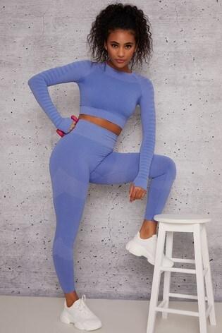 Chi Chi London Blue Cher Leggings