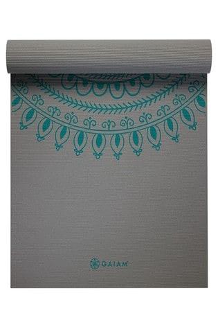Gaiam Grey 6mm Yoga Mat Tribal Wisdom