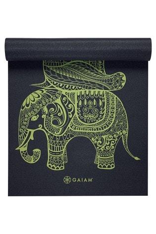 Gaiam Black 6mm Yoga Mat Tribal Wisdom