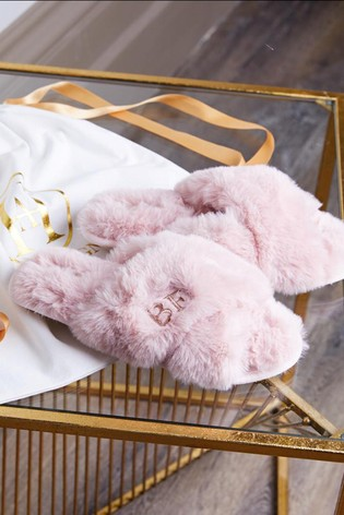 Personalised Fluffy Slippers by HA Design